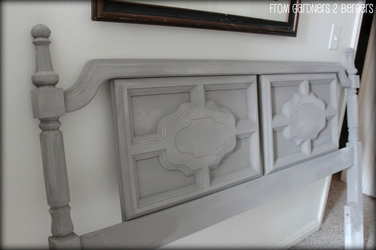 DIY Chalk Paint Headboard Tutorial- my old bedset?