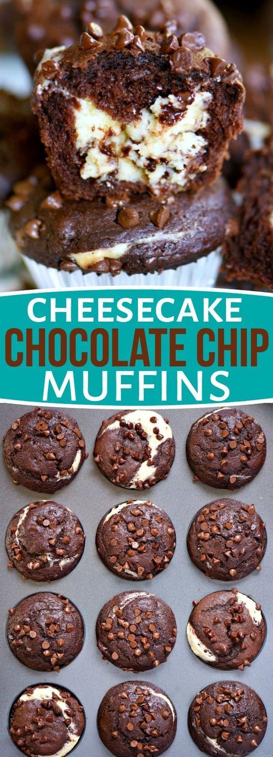 Cheesecake Chocolate Chip Muffins