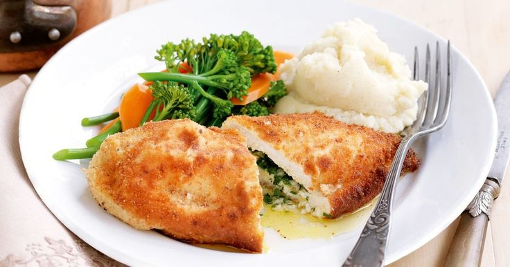 As if chicken isn't good enough, fill a chicken breast with garlic and parsley butter and you're laughing.