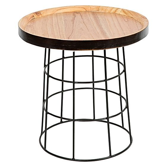 Introduce industrial style-lines and rustic timbers into your home with the character of the Jaha Side Table from Casa Uno.