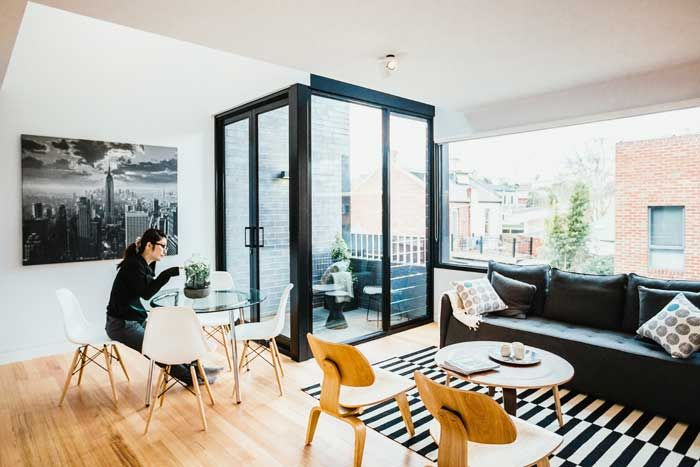 North Melbourne Townhouses by Freedman White. Photo Harvard Wang.