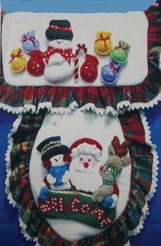 Patrones y Moldes de Juegos de Baños para Navidad en Fieltro GRATIS…