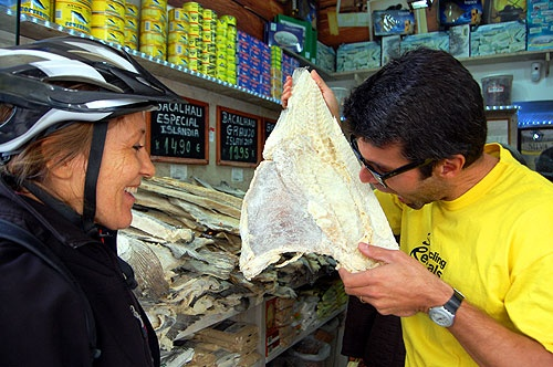 Getting a taste for Portugal's famous Dried Cod on Lisbon Delish City Bike Day Trip