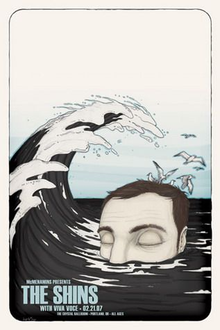 The Shins Concert Poster by Ben WIlson (SOLD OUT)
