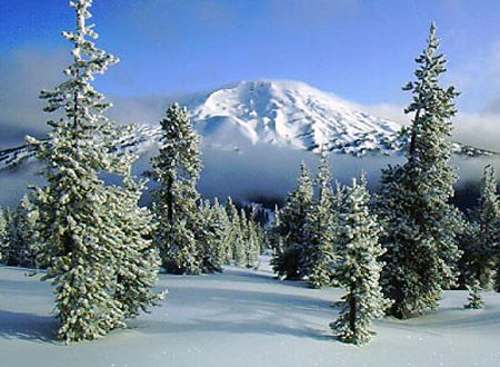Mt Bachelor in Bend, Oregon. I'd love to go to Bend, it'll remind me of Colorado. :)