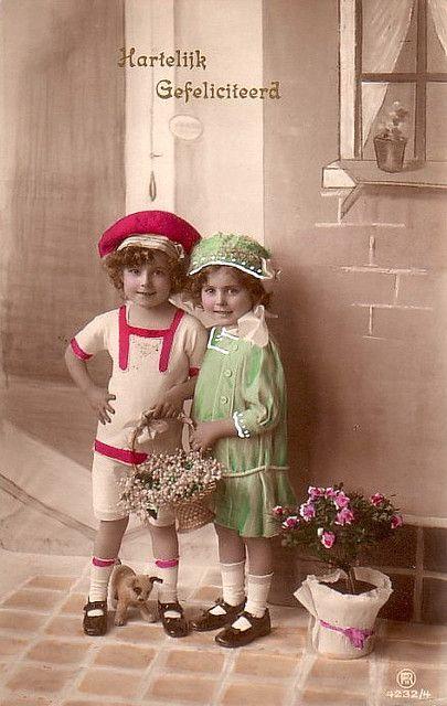 Vintage Postcard ~ Sweet Children   Flickr - Photo Sharing!