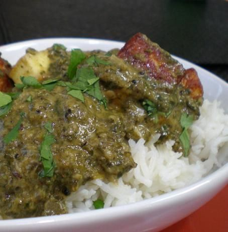 This is an amazingly good recipe. I love Palak Paneer and this totally satisfied my craving but was super easy to make.