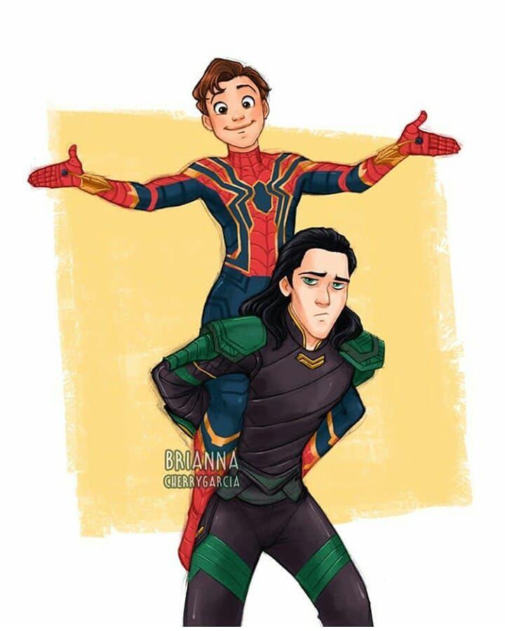 Spidey #Loki ❤💙❤💙 💚💚💚💚 Créditos a quien corresponda