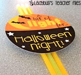 Ladybug's Teacher Files: Halloween Gift: A Bit of Light...
