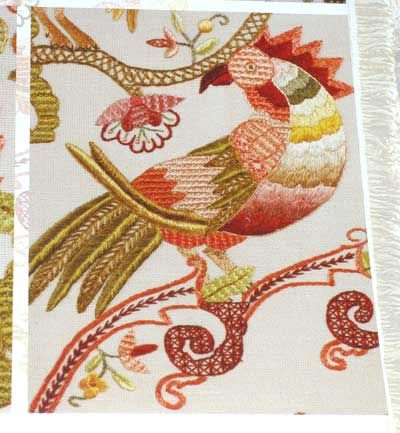 There are so many cool things out there. Jacobean style embroidered rooster