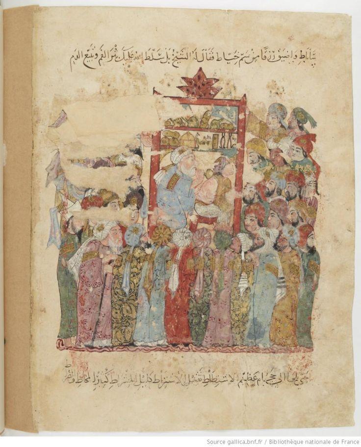 Folio 154 Verso: maqama 47. Abu Zayd practicing medicine