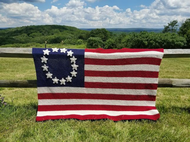 Old Glory American Flag Afghan Highland Hickory Designs Free Pattern American Flag Blanket American Flag Wreath Afghan Pattern