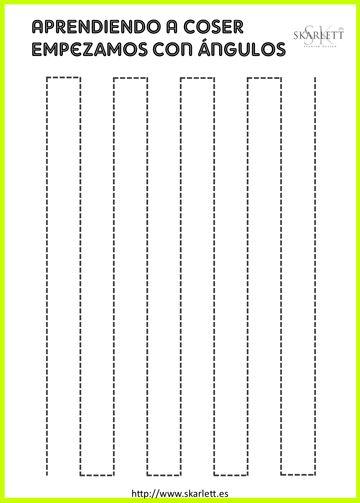 Ejercicios para aprender a coser. Plantillas imprimibles
