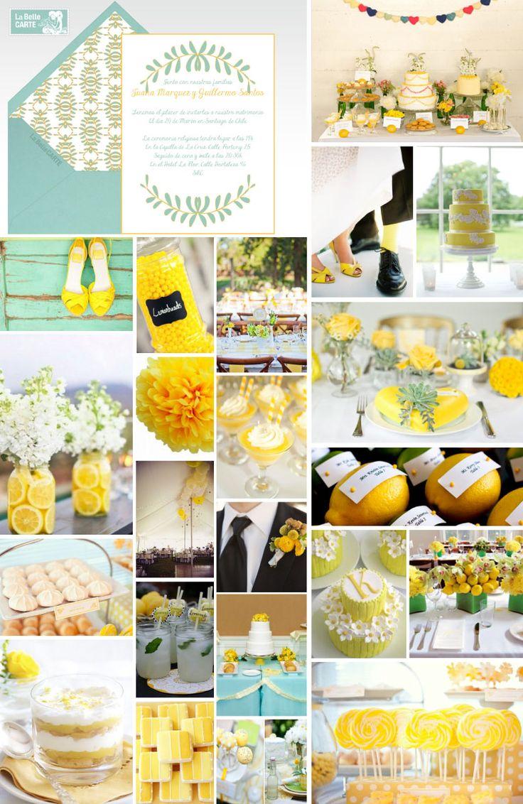 Invitaciones de boda Invitaciones para bodas Ideas para bodas en amarillo LaBelleCarte