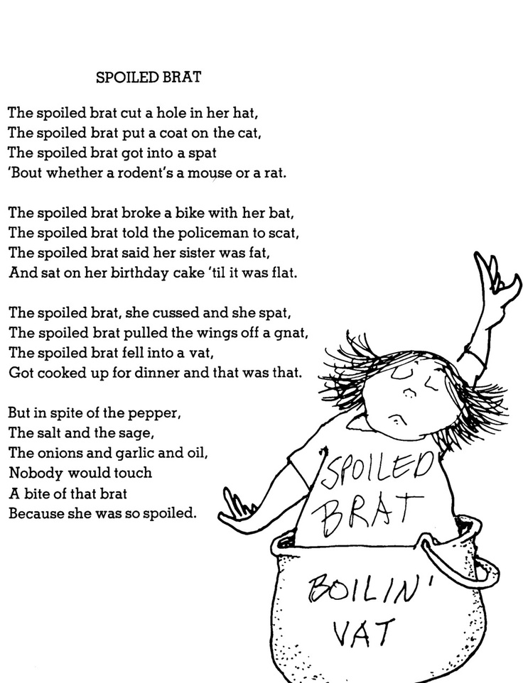 Shel silverstein poems the end