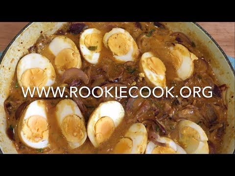Eggs in Coconut Masala - Rookie Cook