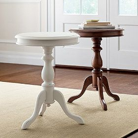 Turned Leg Table.  I bought this for my sunroom.: Decor, Bedside Table, Guest Bedroom, Legs, Accent Tables, The Company Store, Bedroom Ideas