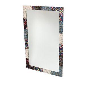 Debenhams Silver fabric covered mirror- at Debenhams Mobile
