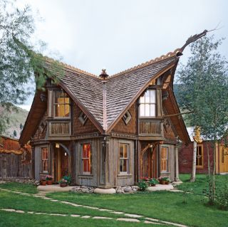 inspired by Norwegian stave church architecture | Rustic Exterior and Bryan Anderson in Creede, Colorado