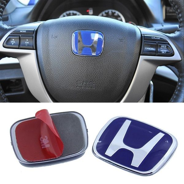 Car Logo Emblem Badge Steering Wheel Cover Sticker Decal For Honda