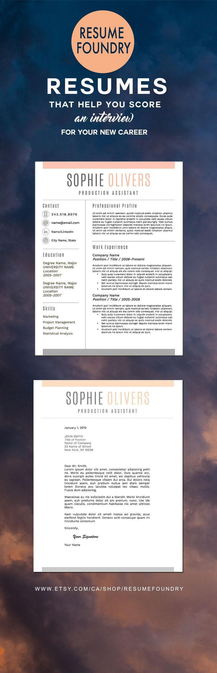 Stylish and Modern Resume Template 1 3 Page