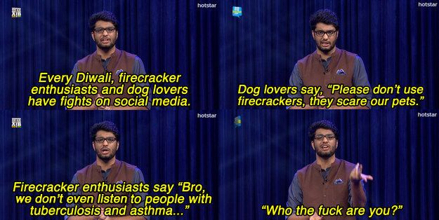 When Khamba explained firecracker enthusiasts. | 25 Times All India Bakchod Was Fucking Hilarious