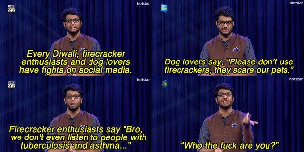 When Khamba explained firecracker enthusiasts.   25 Times All India Bakchod Was Fucking Hilarious