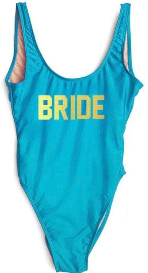 80f8bde555f02 Etsy Bride Swimsuit. Bride Bathing Suit. Bride Swim. One Piece Swimsuit.  Bachelorette