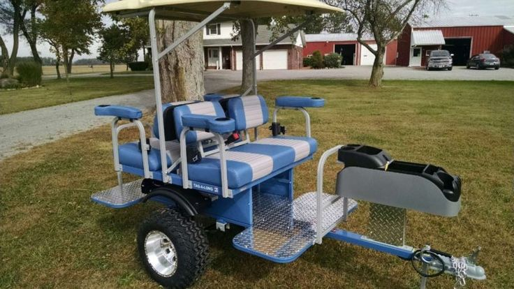 ATV Pull Behind Passenger Trailers | Utv Atv Side By Side Custom 4 Person Trailer Pull Behind Tag-a-long ...