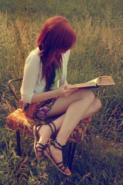 muted tone, long grass, and books :D perfect!