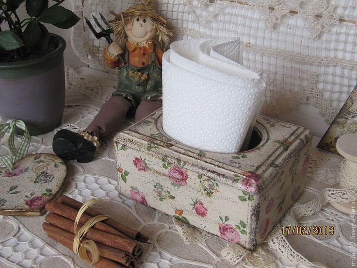 """Купить """"Бабушкин чай"""" салфетница - салфетница, кухня Прованс, винтажный стиль, уютная кухня, подарок"""