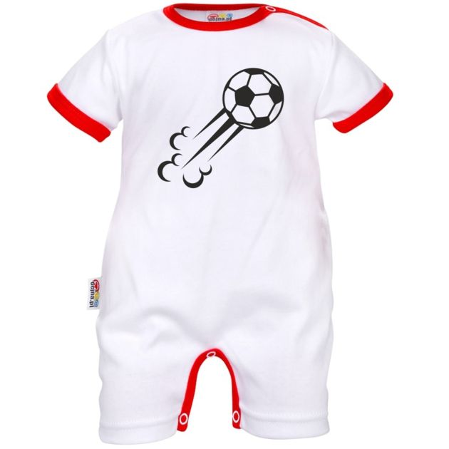 Barboteuse bébé de sport : Ballon de FOOT volant - SiMedio