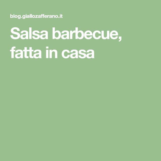 Salsa barbecue, fatta in casa