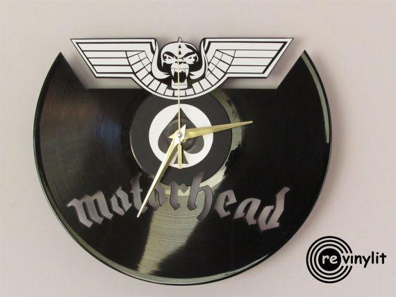 Motorhead clock Wall clock Lemmy Lemmy by Revinylit on Etsy