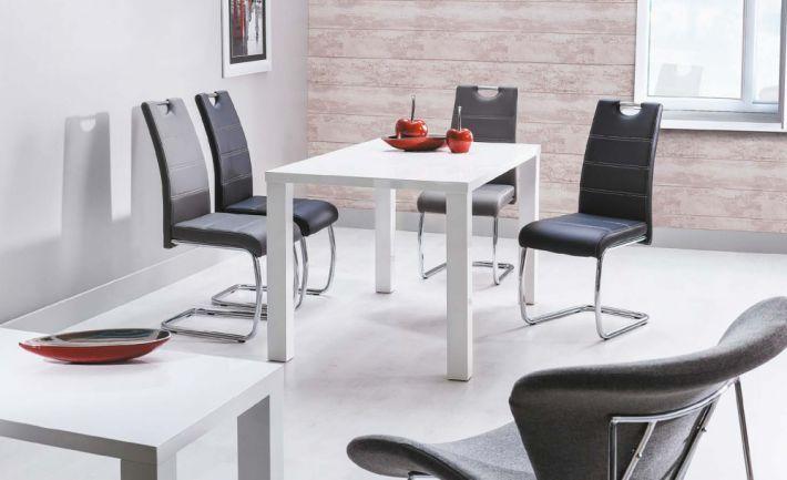 Zestaw stół MONTEGO 80x120 i 4 krzesła H-666 Signal to awangardowe meble, które nie tylko odmienią jadalnię i dodadzą jej nowoczesnego wyglądu, ale także spełnią marzenie o posiadaniu miejsca, przy którym będzie zbierała się cała rodzina każdego dnia.