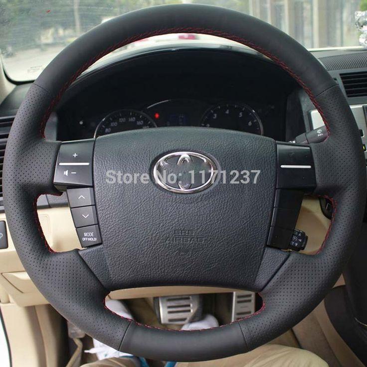 Рулевое Колесо Кожи Обложки Чехол для Toyota MARK X REIZ Од Моделей Натуральная Кожа DIY Ручной работы Автомобиля стиль Черная Крышка