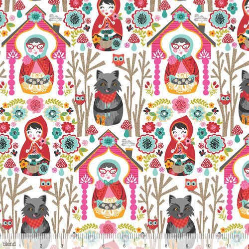 """Red Riding Hood White"" Fairytale Fabric by Blend"