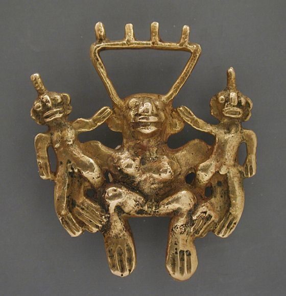 Pendant Colombia, Chiriqui, A.D. 500-1550 Jewelry and Adornments; pendants Gold