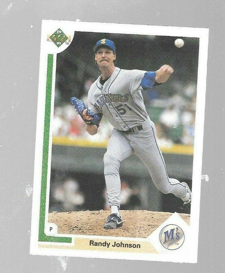 1991 Upper Deck Randy Johnson 376 Seattle Mariners Baseball Card Seattlemariners Baseball Cards Seattle Mariners Baseball Mariners Baseball