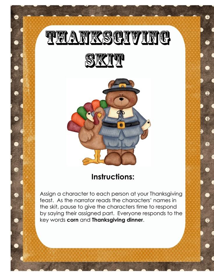 Classroom Skit Ideas ~ Thanksgiving day skit oopsey daisy