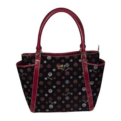 Flavia Bag, Black and Bordeaux. Handbag practical and functional. Perfect for daily and evening. #bags #Francopugi. http://store.francopugi.com/konakart/SelectProd.do?prodId=442