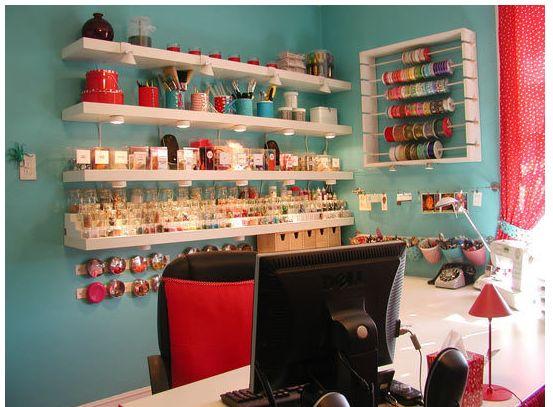 Attic Craft Room Ideas | Crafty Intentions/Megan 1b