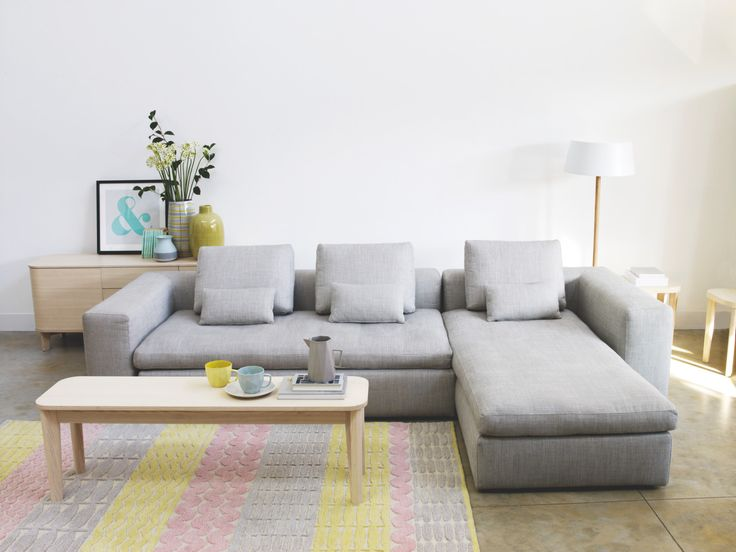 Generously Sized, Italian Made Sidney Light Grey Fabric Chaise Longue Sofa  Bed With Low, Deep Seating And Foam Mattress, Equivalent To A Double Bed.