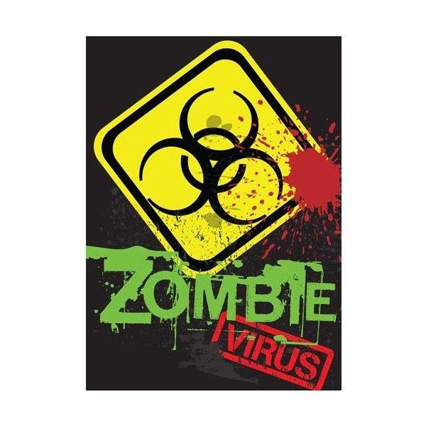 Zombie Biohazard Symbol Zombie Virus With Biohazard Sign