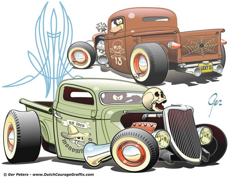 Ford Pickup Truck Cartoon