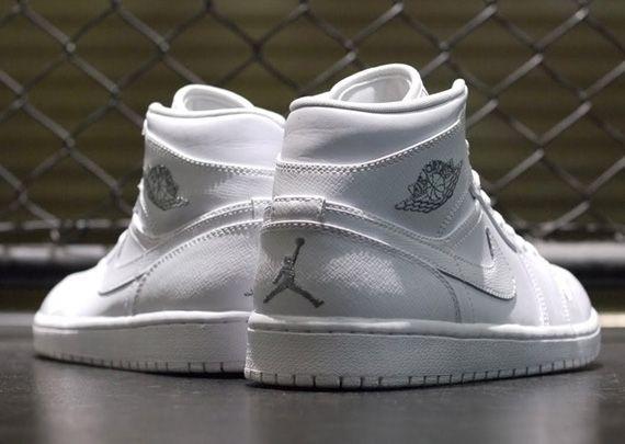 hot sale online 755ea ab966 Air Jordan 1 White Metallic Silver