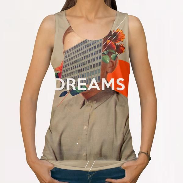 """Dreams"" All Over Print Tanks by Frank Moth 