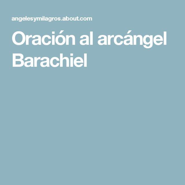 Oración al arcángel Barachiel
