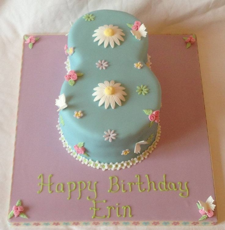 Pretty Cath Kidson inspired simple 8 cake
