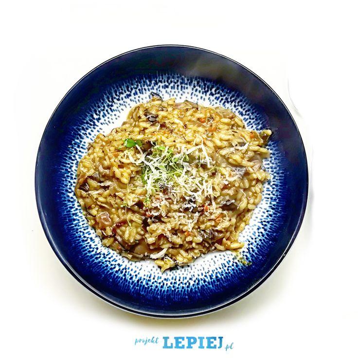 Projekt Lepiej | Przepis na risotto z suszonymi grzybami. Najlepszy przepis na zdrowe i szybkie risotto z grzybami. Zdrowe odżywianie, gotowanie, dieta.